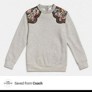 ♥️ NWT Coach ♥️ Embellished gray sweater!